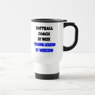 Coche del softball de la leyenda de la pesca tazas de café