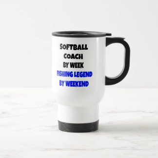 Coche del softball de la leyenda de la pesca taza térmica