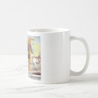 Coche del vapor del Calliope de las musas Taza De Café