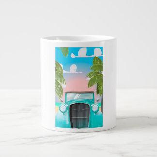 coche del verde de la espuma del mar del vintage taza de café gigante
