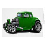 coche del verde del coche de carreras de los años  tarjetón