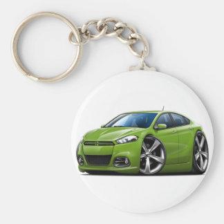 Coche del verde del dardo de Dodge Llavero Redondo Tipo Pin