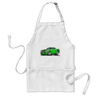 Coche del verde del demonio de Dodge Delantal
