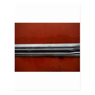 Coche del vintage del desguace, rojo y pintura vie tarjeta postal
