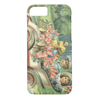 Coche del vintage del polluelo de Pascua de los Funda iPhone 7