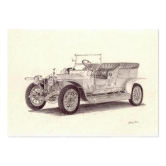 Coche del vintage: Fantasma de plata de Rolls Royc Plantillas De Tarjetas Personales
