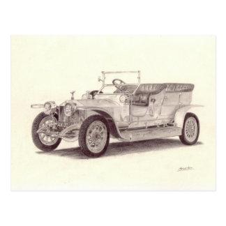 Coche del vintage Fantasma de plata de Rolls Royc Postal