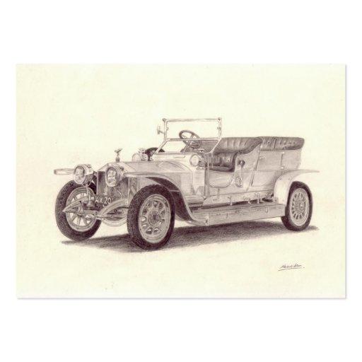 Coche del vintage: Fantasma de plata de Rolls Tarjetas De Visita Grandes