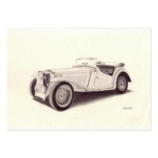 Coche del vintage: MG TC Plantilla De Tarjeta De Visita