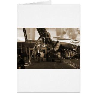 Coche del vintage tarjeta de felicitación