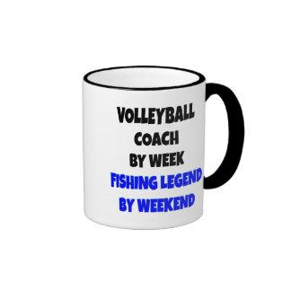Coche del voleibol de la leyenda de la pesca tazas de café