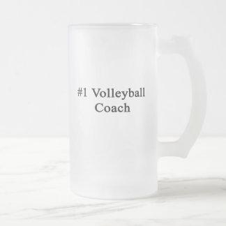 Coche del voleibol del número 1 taza cristal mate
