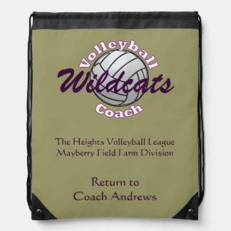 Coche del voleibol mochila