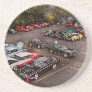 Coche - demostración de coche antiguo posavasos manualidades