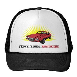Coche divertido del músculo de los años 70 gorras de camionero