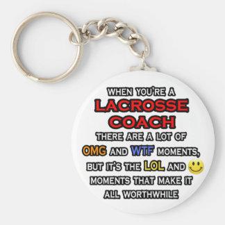 Coche divertido… OMG WTF LOL de LaCrosse Llavero Redondo Tipo Pin