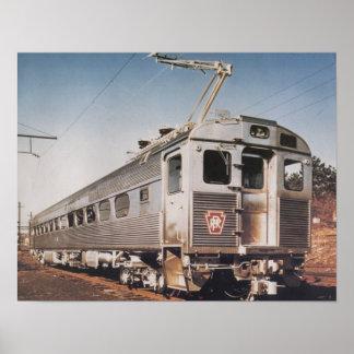 Coche eléctrico de Silverliner del ferrocarril de  Poster