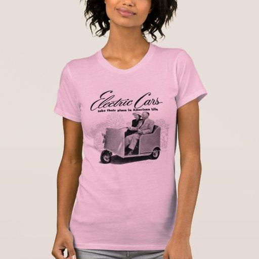 Coche eléctrico retro 3-Wheel del kitsch 50s del v Camiseta