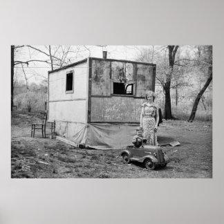 Coche en la Gran Depresión, los años 30 del pedal  Póster