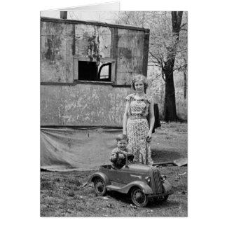 Coche en la Gran Depresión, los años 30 del pedal  Felicitaciones