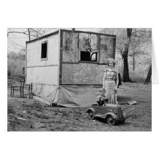 Coche en la Gran Depresión, los años 30 del pedal  Tarjeta De Felicitación