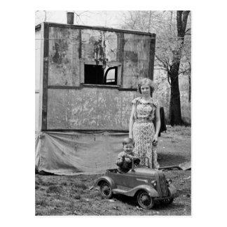 Coche en la Gran Depresión, los años 30 del pedal  Postales