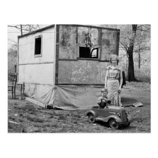 Coche en la Gran Depresión los años 30 del pedal Tarjetas Postales