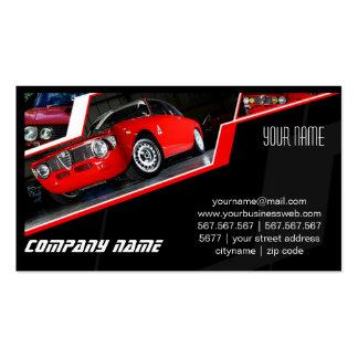 Coche exótico automotriz tarjeta de visita