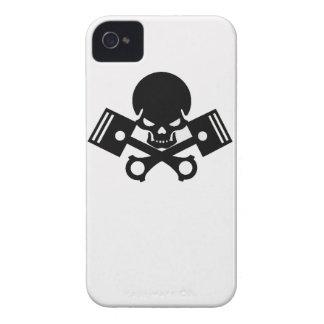 Coche fresco del pistón de los cráneos del coche d Case-Mate iPhone 4 coberturas