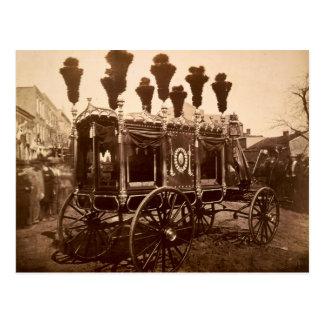 Coche fúnebre de presidente Abraham Lincoln de S M Tarjetas Postales