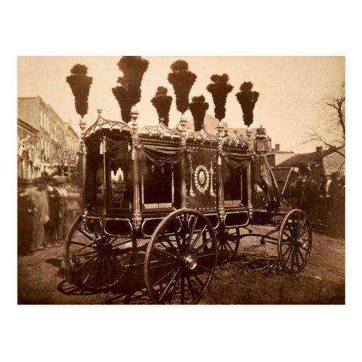 Coche fúnebre de presidente Abraham Lincoln de S.M Tarjetas Postales