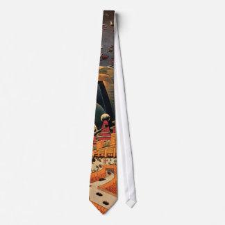 Coche futurista del vuelo de la ciudad de la corbata personalizada