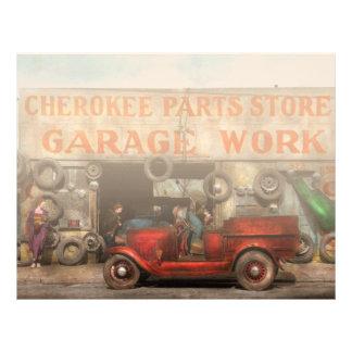 Coche - garaje - tienda cherokee de las piezas - membretes personalizados