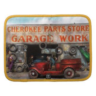 Coche - garaje - tienda cherokee de las piezas - planificador