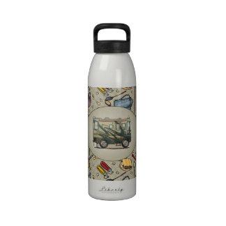 Coche grande Motorhome del campista contento lindo Botellas De Agua Reutilizables