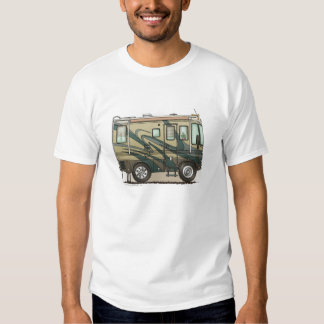 Coche grande Motorhome del campista contento lindo Camisas