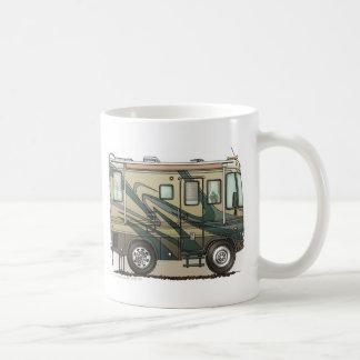 Coche grande Motorhome del campista contento lindo Taza De Café