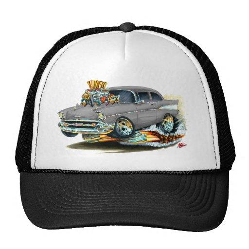 Coche gris 1957 de Chevy 150-210 Gorras De Camionero