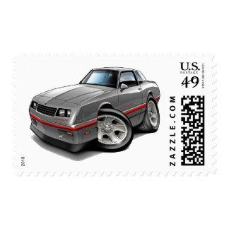 Coche Gris-Rojo 1983-88 de Monte Carlo Sellos