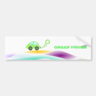 coche híbrido verde en pegatina para el parachoque pegatina para auto
