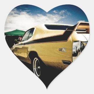 Coche impresionante del músculo de Buick GSX Pegatina En Forma De Corazón