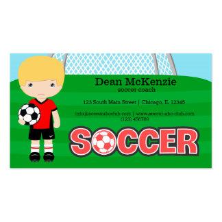 Coche/jugador de fútbol del fútbol tarjetas de visita