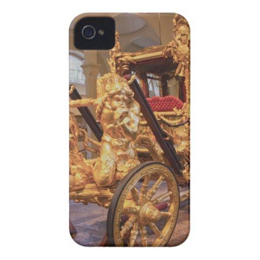 Coche Londres del estado del oro iPhone 4 Case-Mate Coberturas