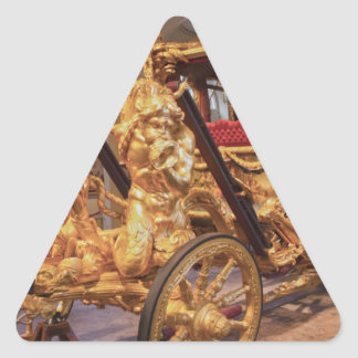 Coche Londres del estado del oro Colcomanias Triangulo