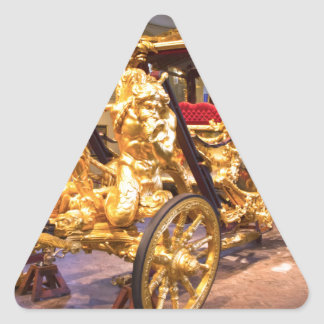 Coche Londres del estado del oro Calcomanías De Triangulos