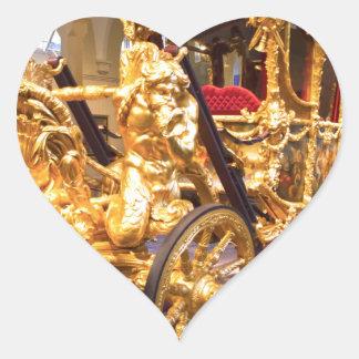 Coche Londres del estado del oro Pegatina En Forma De Corazón