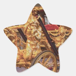 Coche Londres del estado del oro Pegatina En Forma De Estrella