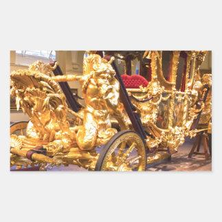 Coche Londres del estado del oro Pegatina Rectangular