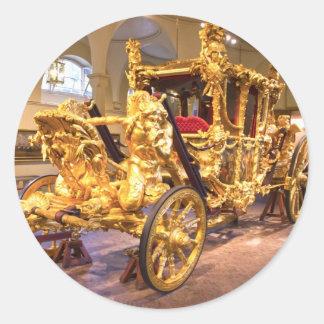 Coche Londres del estado del oro Pegatina Redonda