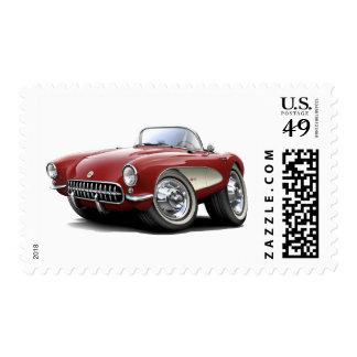 Coche marrón 1956-57 del Corvette Sello